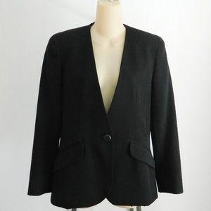 Vintage Dior Wool Black Blazer Coat Jacket Size 4